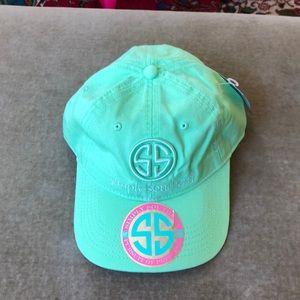 Simple southern mint green cap hat NWT ladies FUN